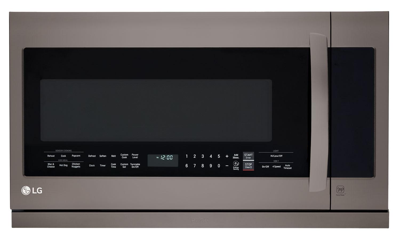 LG 2.2 Cu. Ft. Over-the-Range Microwave – Black Stainless Steel LMV2257BD