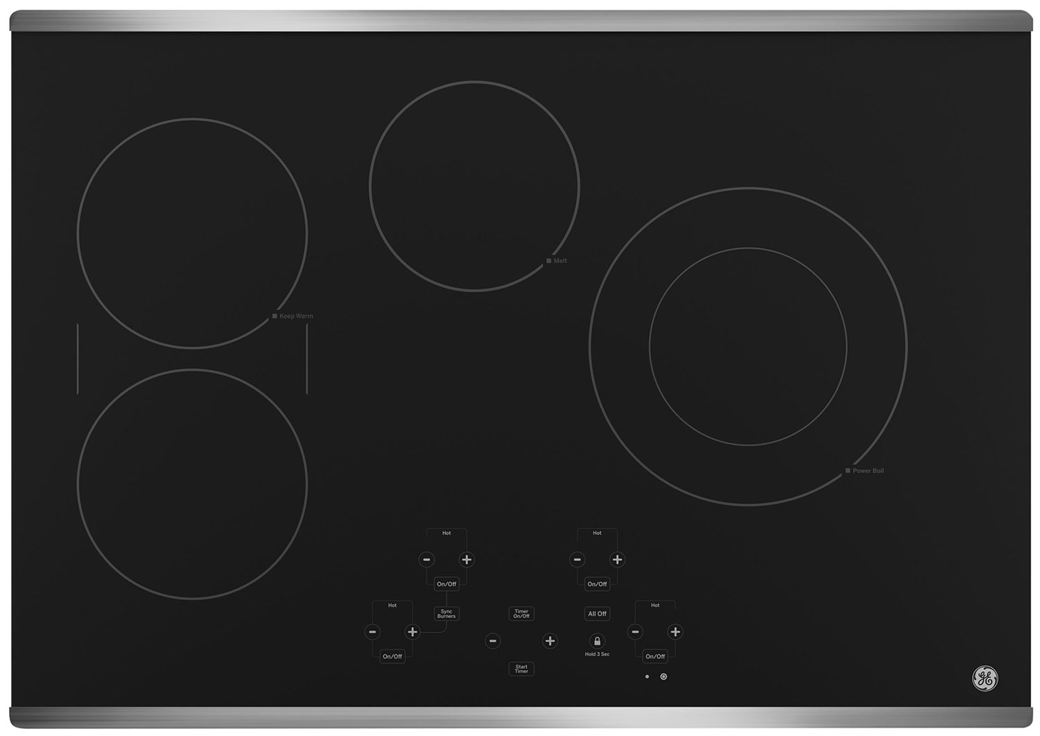 "Cooking Products - GE 30"" Electric Cooktop with Touch Controls – JP5030SJSS"