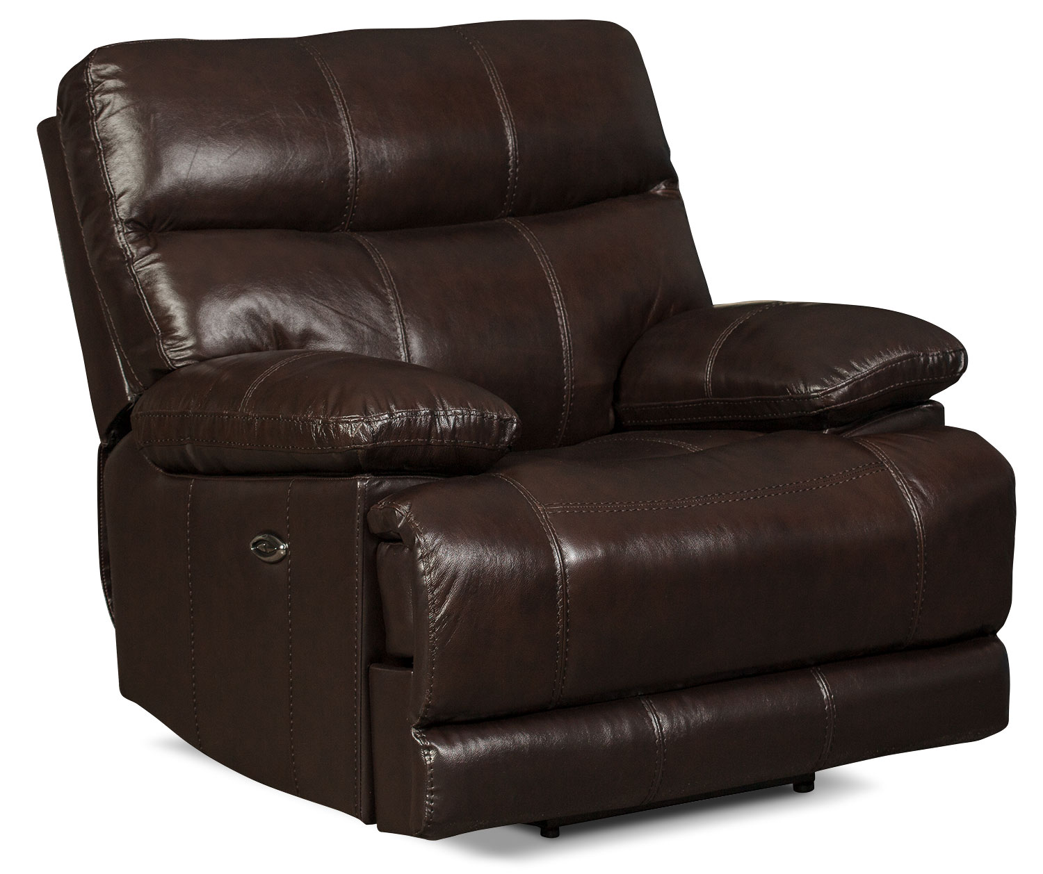 Living Room Furniture - Gavin Genuine Leather Power Reclining Chair – Brown