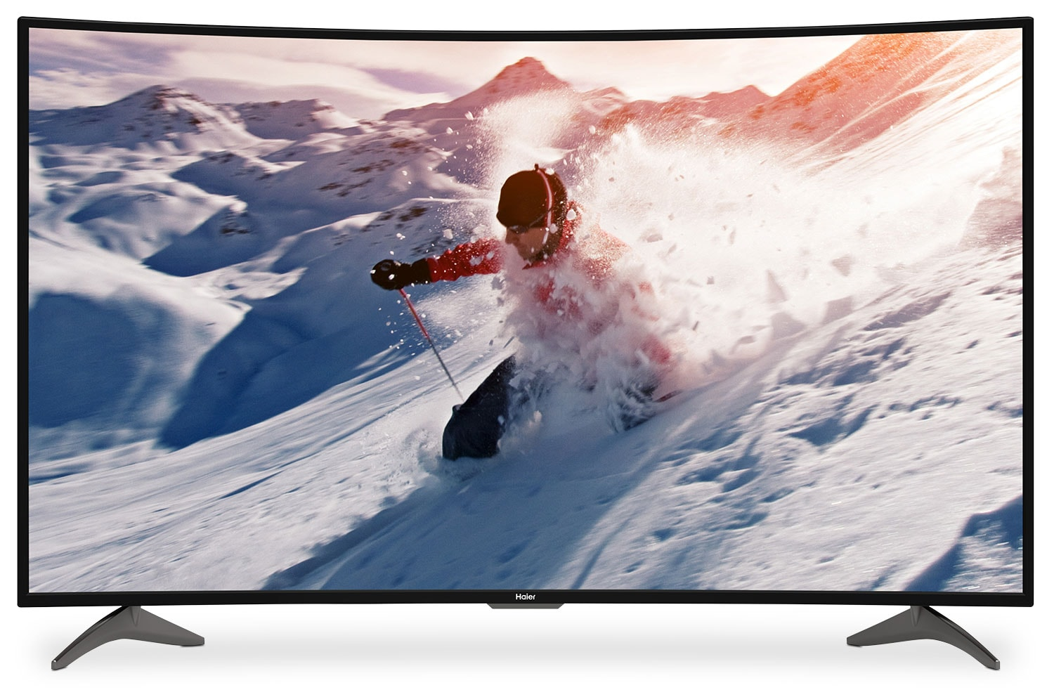 "Haier 55"" Curved 4K UHD Television"