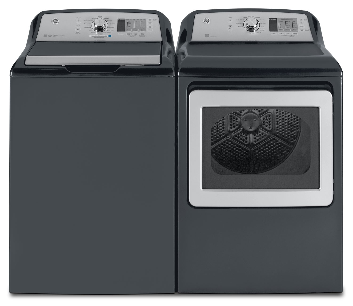GE 5.3 Cu. Ft. Top-Load Washer and 7.4 Cu. Ft. Electric Dryer