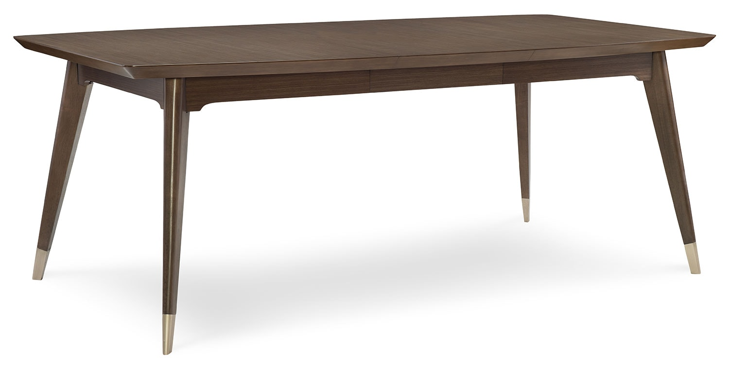 Rachael Ray Soho Dining Table with Leaf Ash Brown Leons