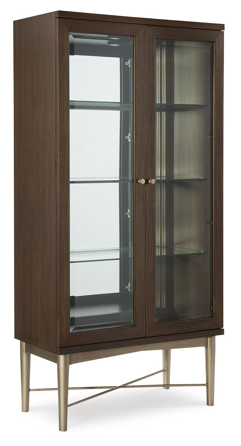 Rachael Ray Soho Bunching Display Cabinet - Ash Brown