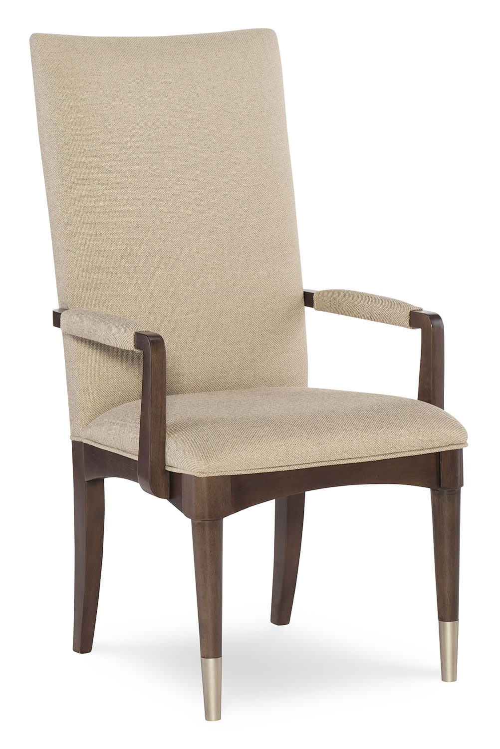 Dining Room Furniture - Rachael Ray Upholstered Arm Chair - Ash Brown
