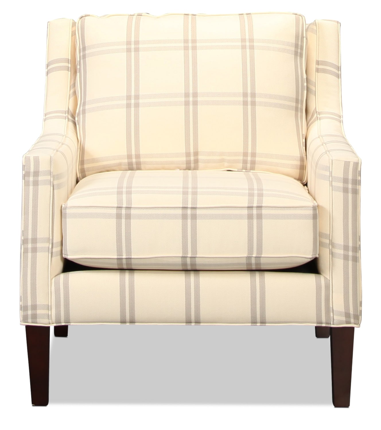Living Room Furniture - Dover Accent Chair - Plaid