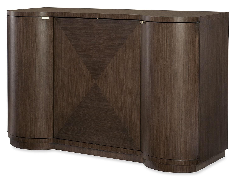 Dining Room Furniture - Rachael Ray Soho Bar Cabinet - Ash Brown