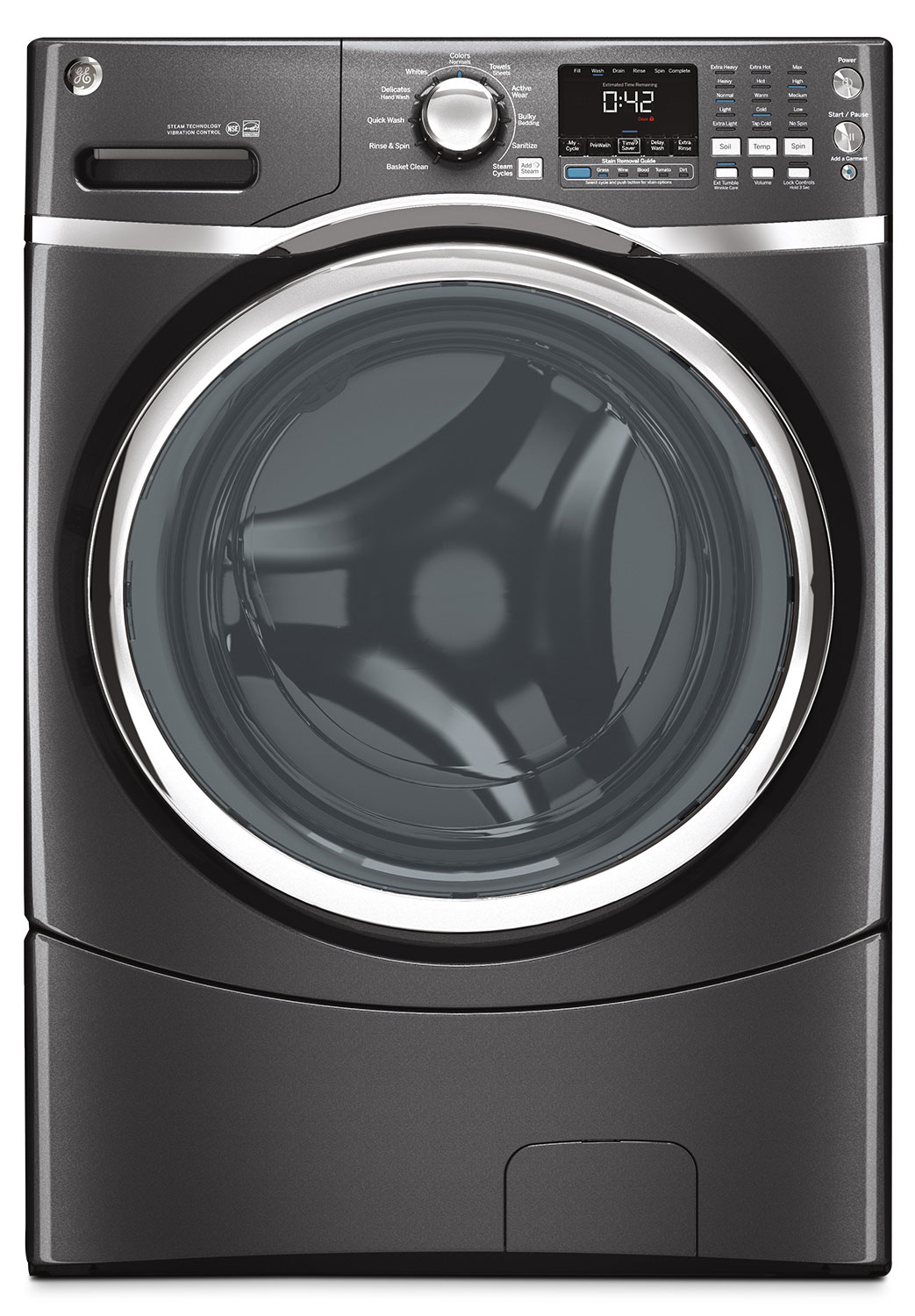 GE 5.0 Cu. Ft. Front-Load Washer – GFWS1705HDG
