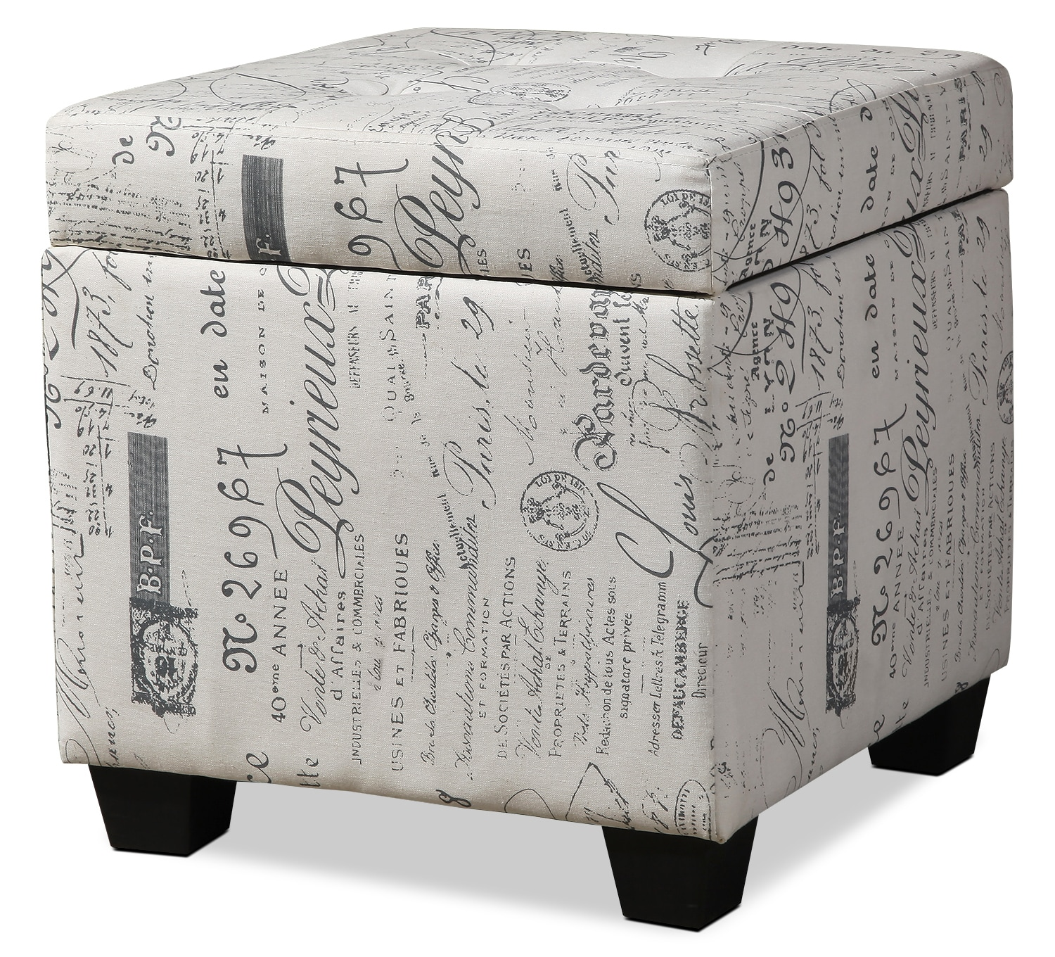 Living Room Furniture - Amalia Cube Ottoman – Cream