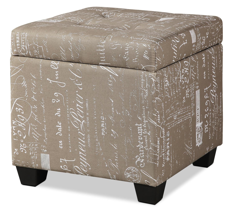 Amalia Cube Ottoman – Beige