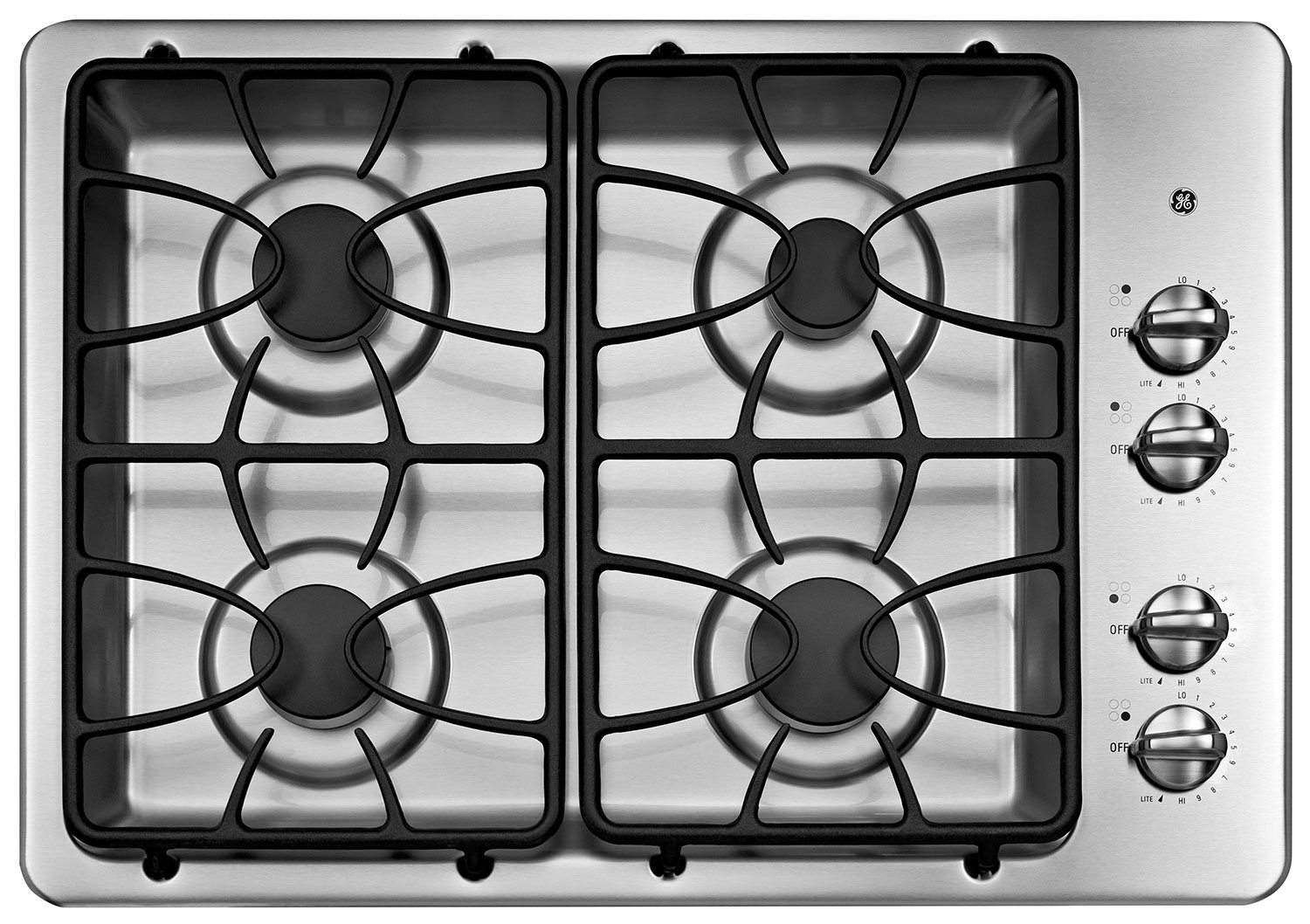 "Cooking Products - GE 30"" Gas Cooktop – JGP329SETSS"