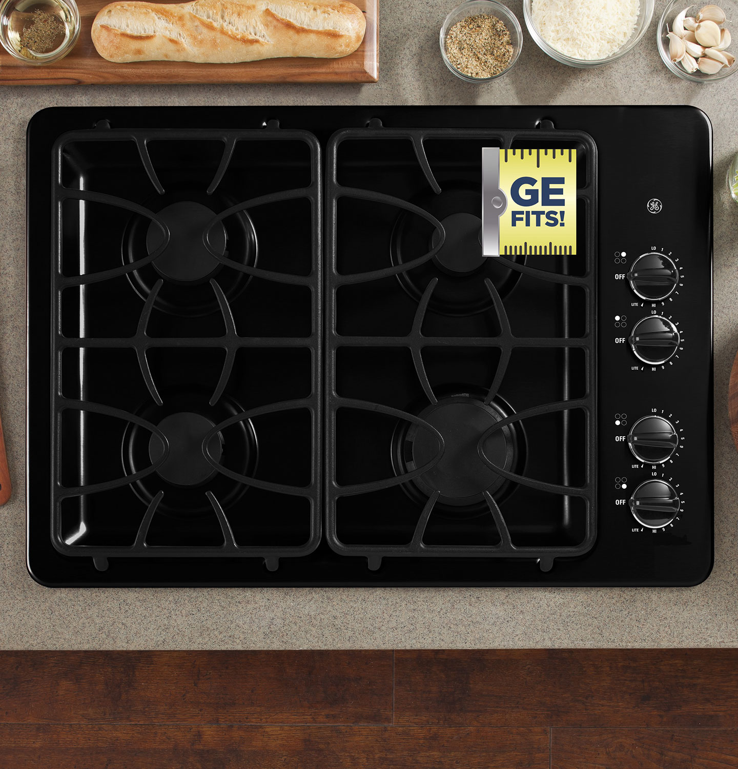 "Cooking Products - GE 30"" Gas Cooktop – JGP329DETBB"