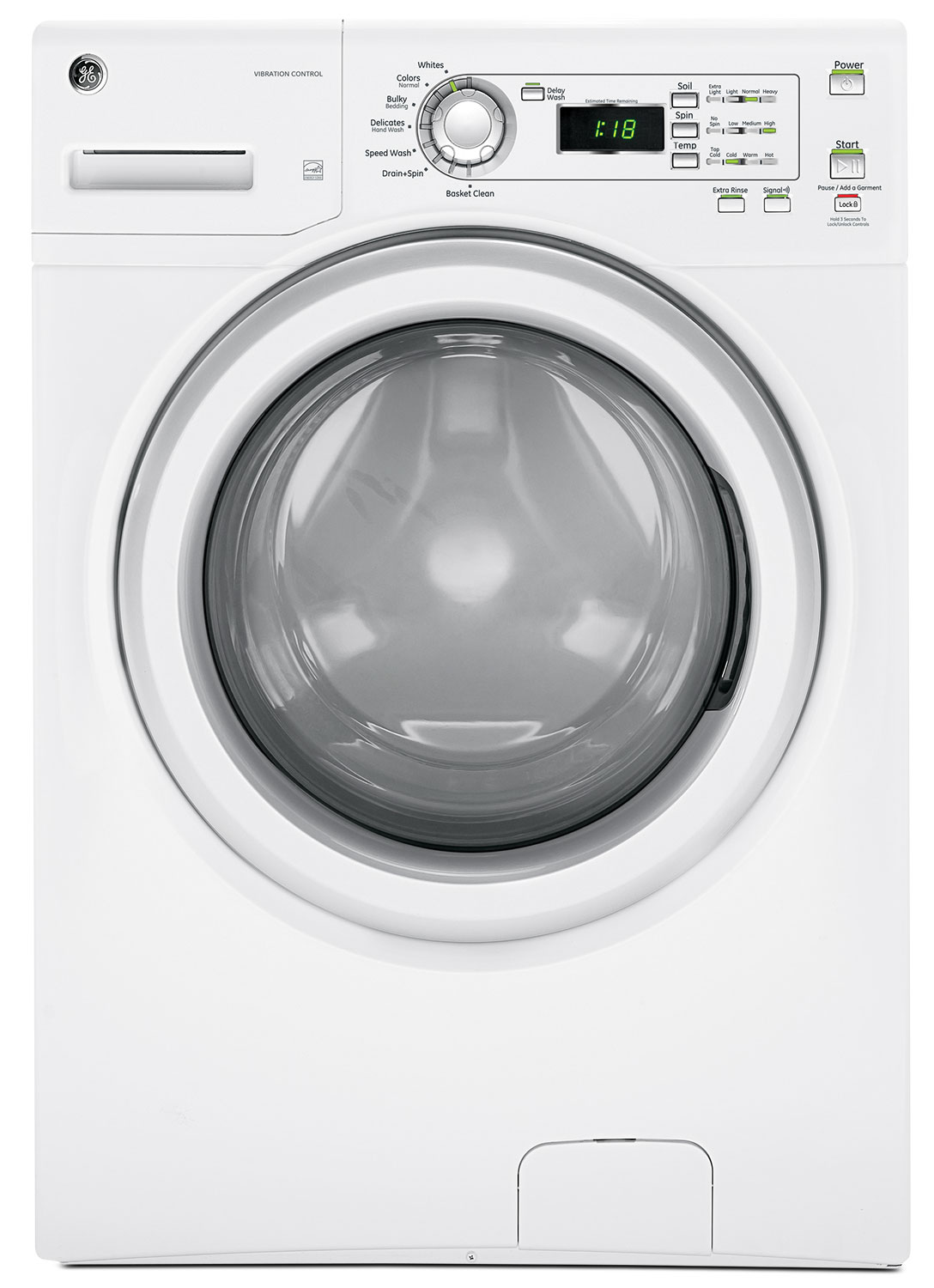 GE 4.8 Cu. Ft. Front-Load Washer – GFWN1300JWW
