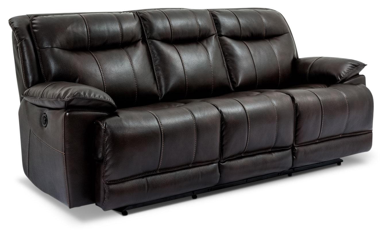 Sofa inclinable matt en tissu apparence cuir noir brick for Sofa en liquidation
