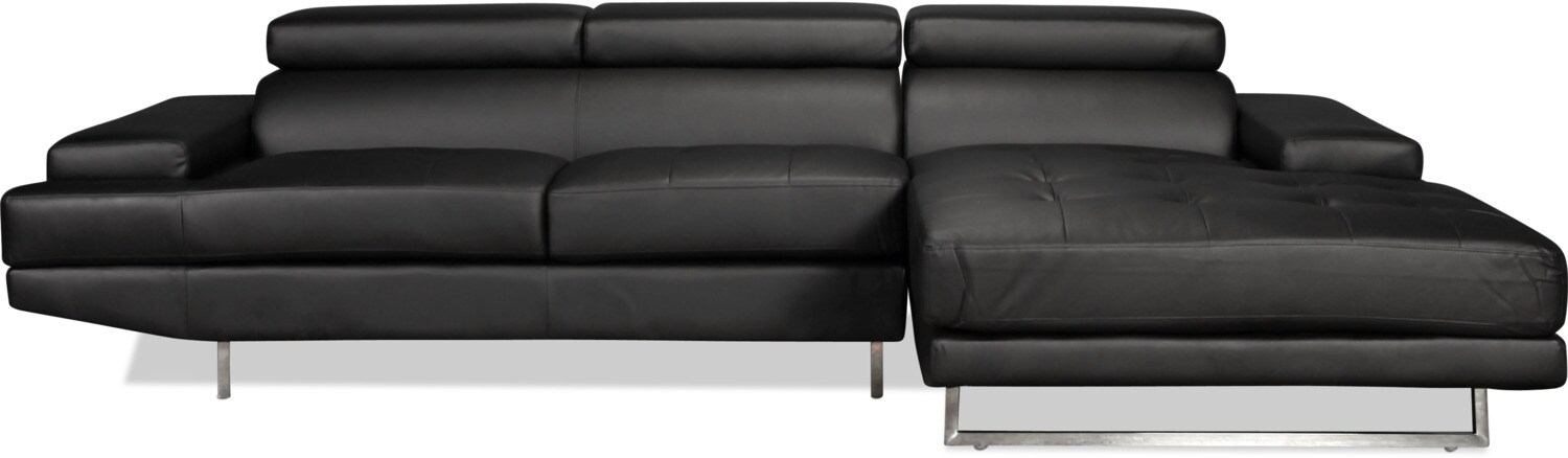Captiva 2-Piece Right-Facing Sectional - Black