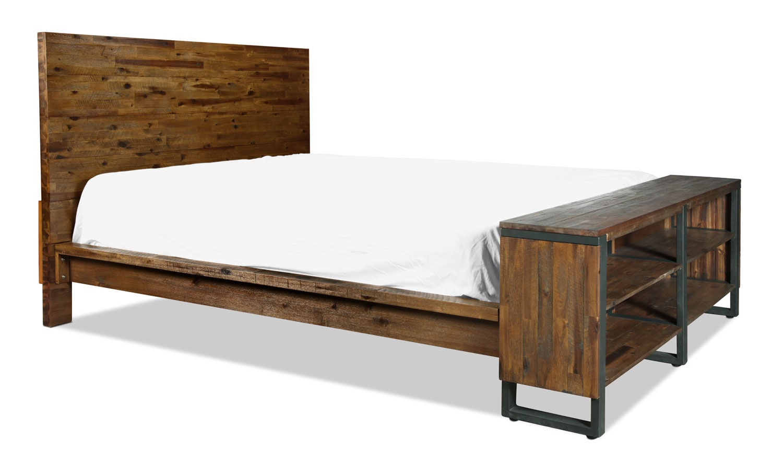 Rainier King Bed - Brown