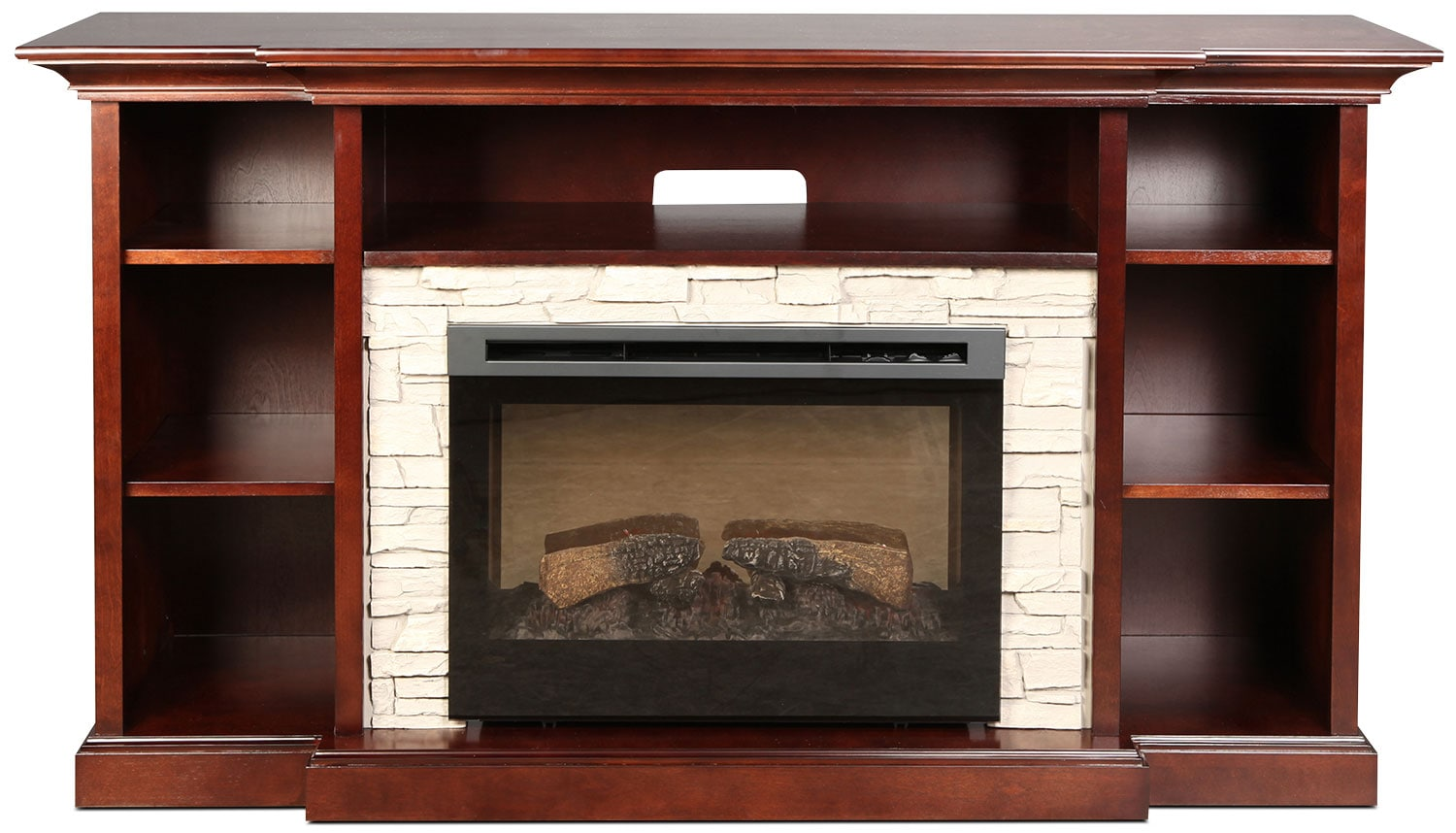 Courtyard Fireplace TV Stand - Espresso