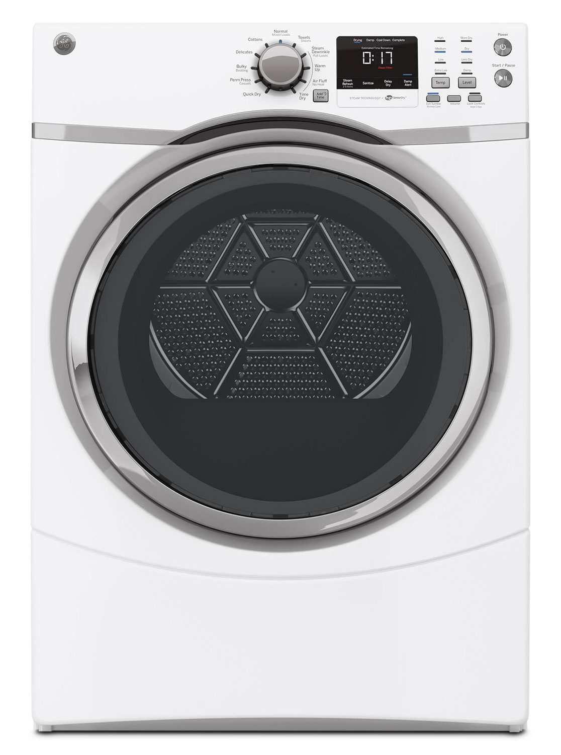 GE 7.5 Cu. Ft. Electric Dryer – GFMS170EHWW