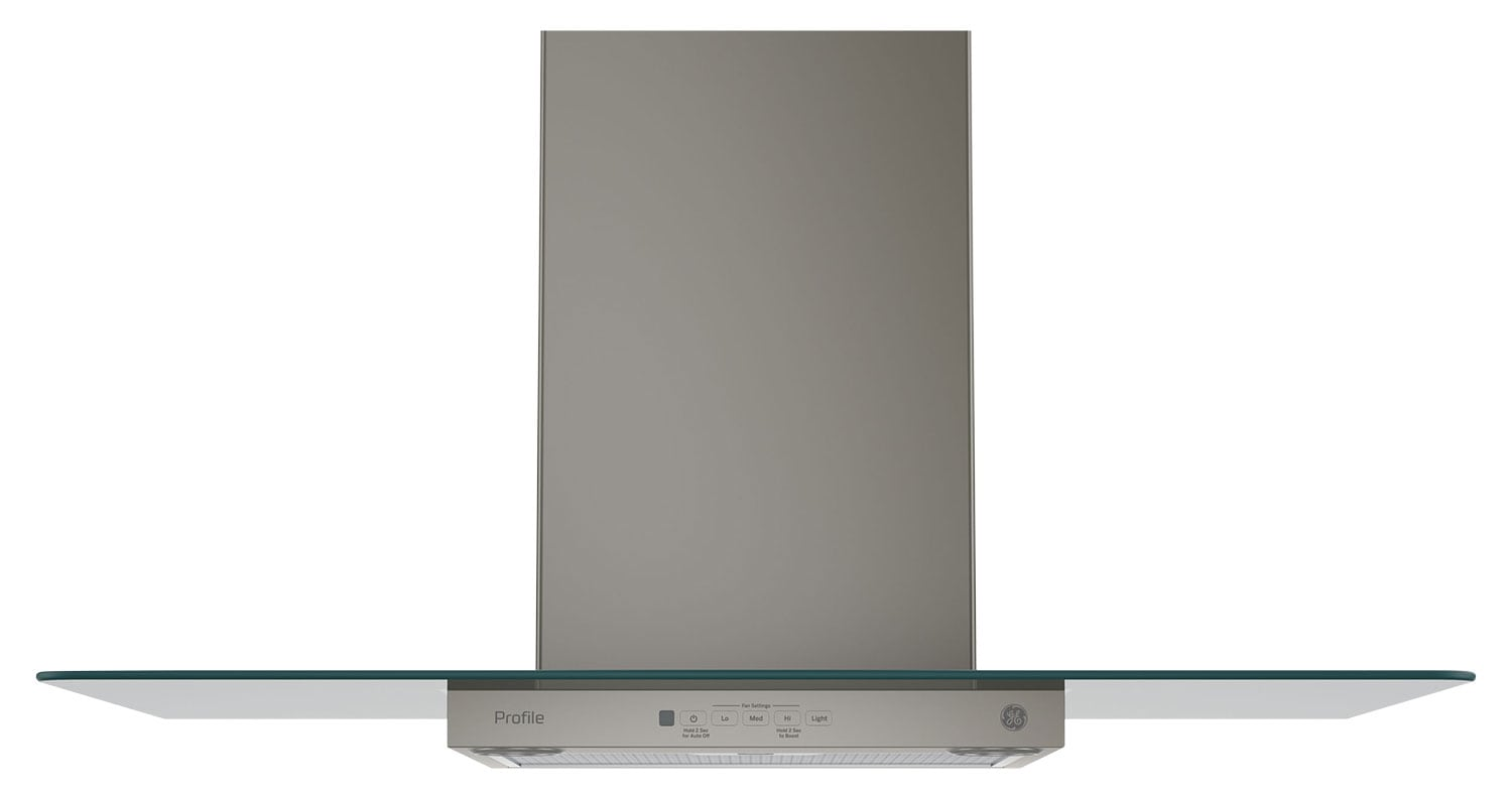 "Cooking Products - GE 36"" Wall-Mount Glass Canopy Chimney Range Hood – PVW7361EJESC"