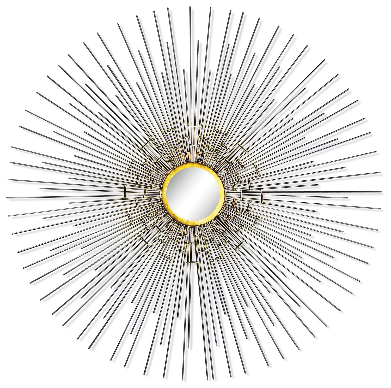 "Accent and Occasional Furniture - Arizona Silver 35"" Mirror - Chrome"