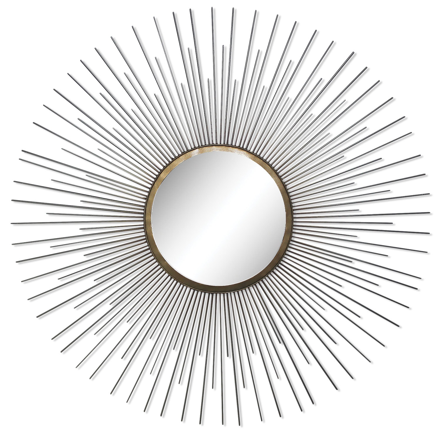 "Accent and Occasional Furniture - Triple Spoke 35"" Mirror - Chrome"