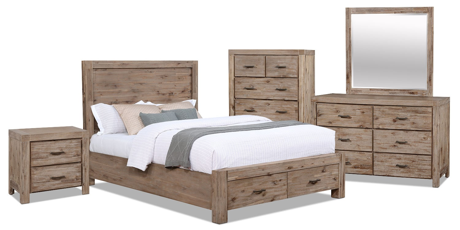 Acadia 7-Piece Queen Storage Bedroom Package