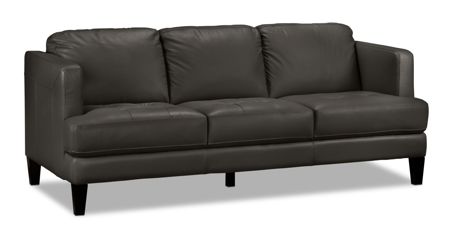 Walker sofa charcoal leon 39 s for Charcoal sofa