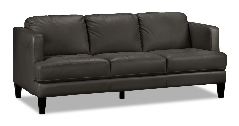Living Room Furniture - Walker Sofa - Charcoal