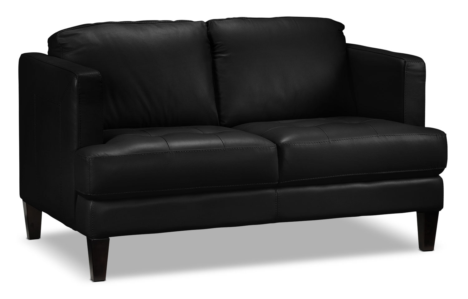 Living Room Furniture - Walker Loveseat - Black