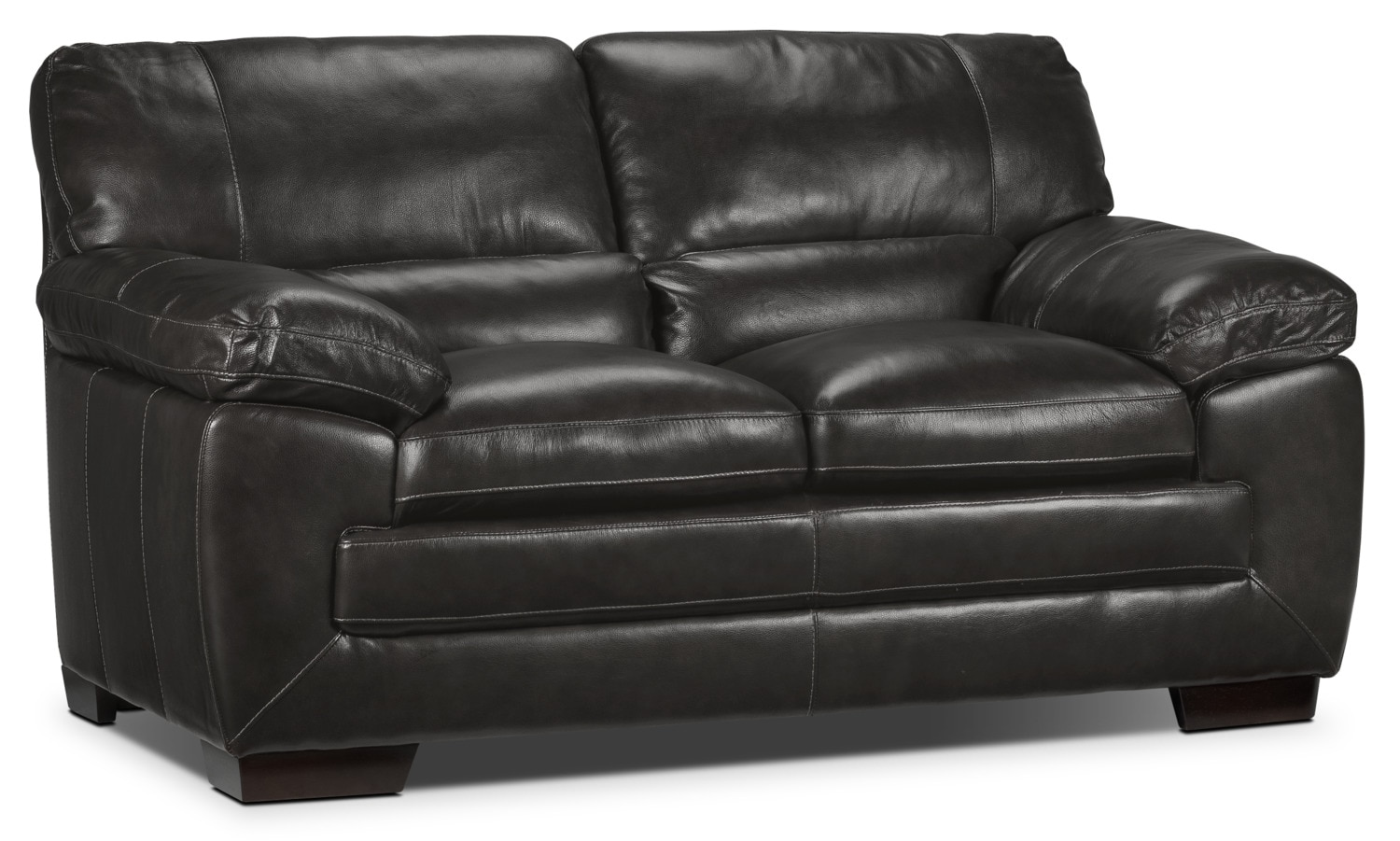 Living Room Furniture - Amarillo Loveseat - Charcoal