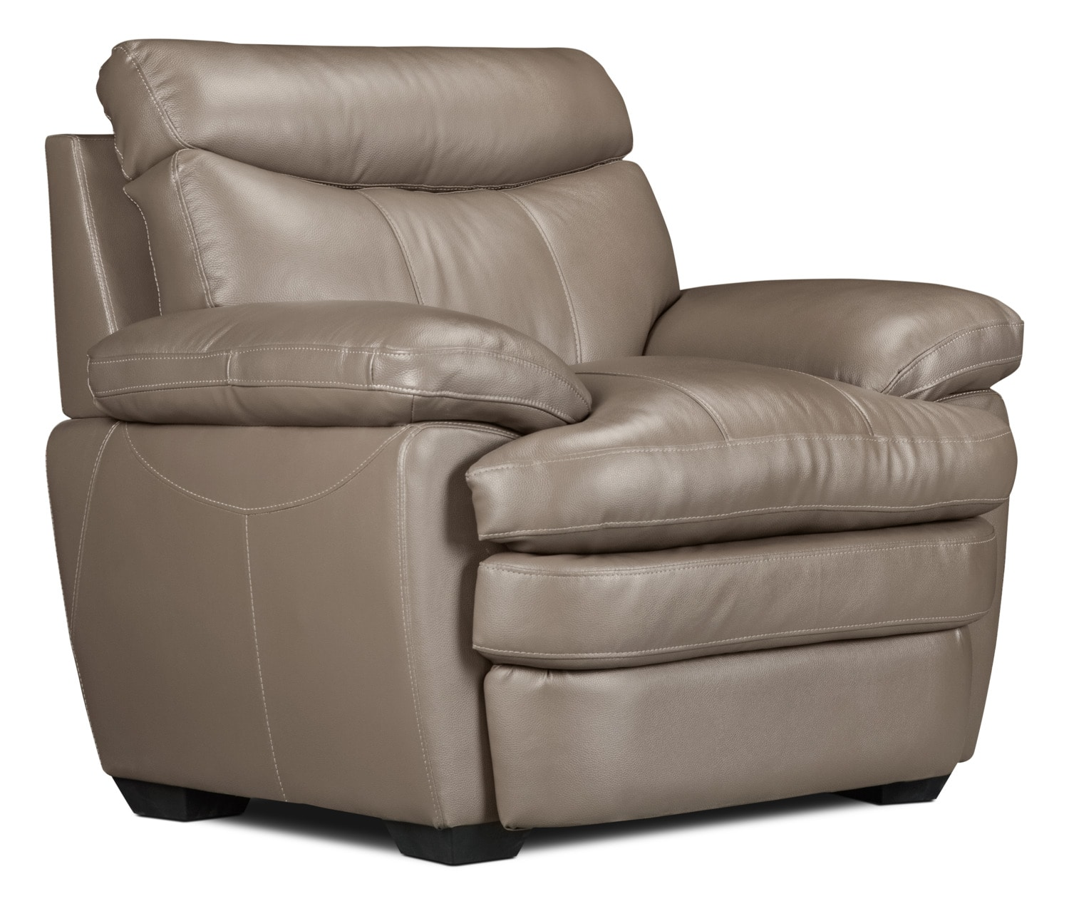 Marty Genuine Leather Chair – Dark Taupe
