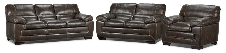 Amarillo Sofa, Loveseat and Chair Set - Warm Grey