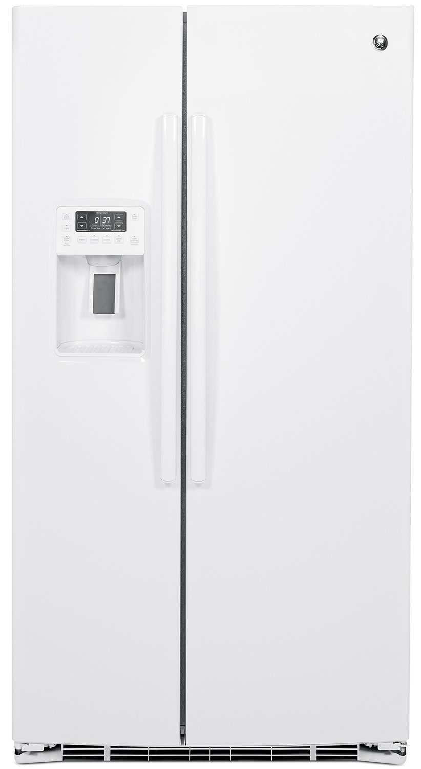 GE 25.4 Cu. Ft. Side-by-Side Refrigerator – PSE25KGHWW