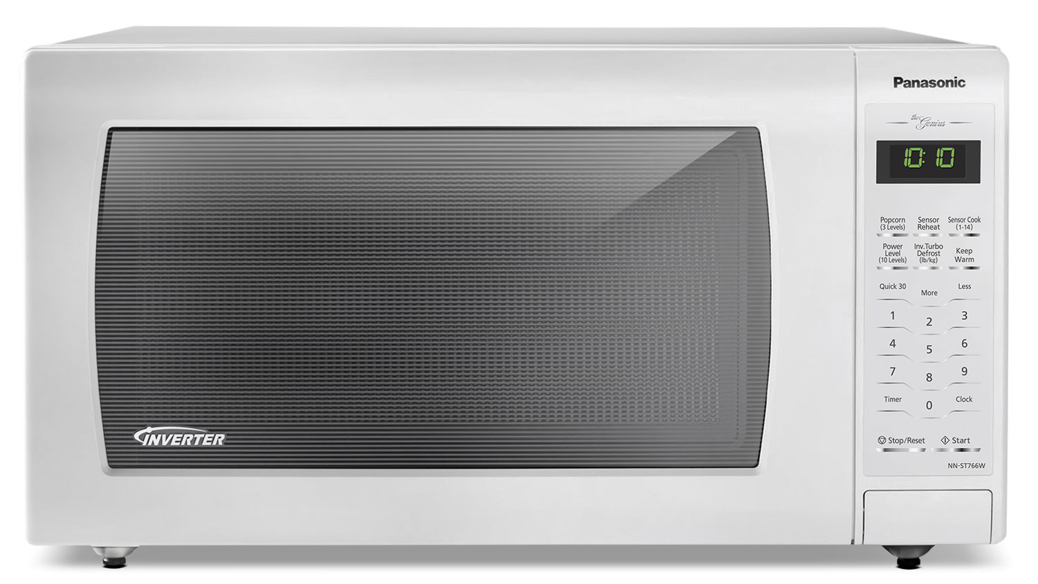 Panasonic Genius® 1.6 Cu. Ft. Countertop Microwave – NN-ST766W