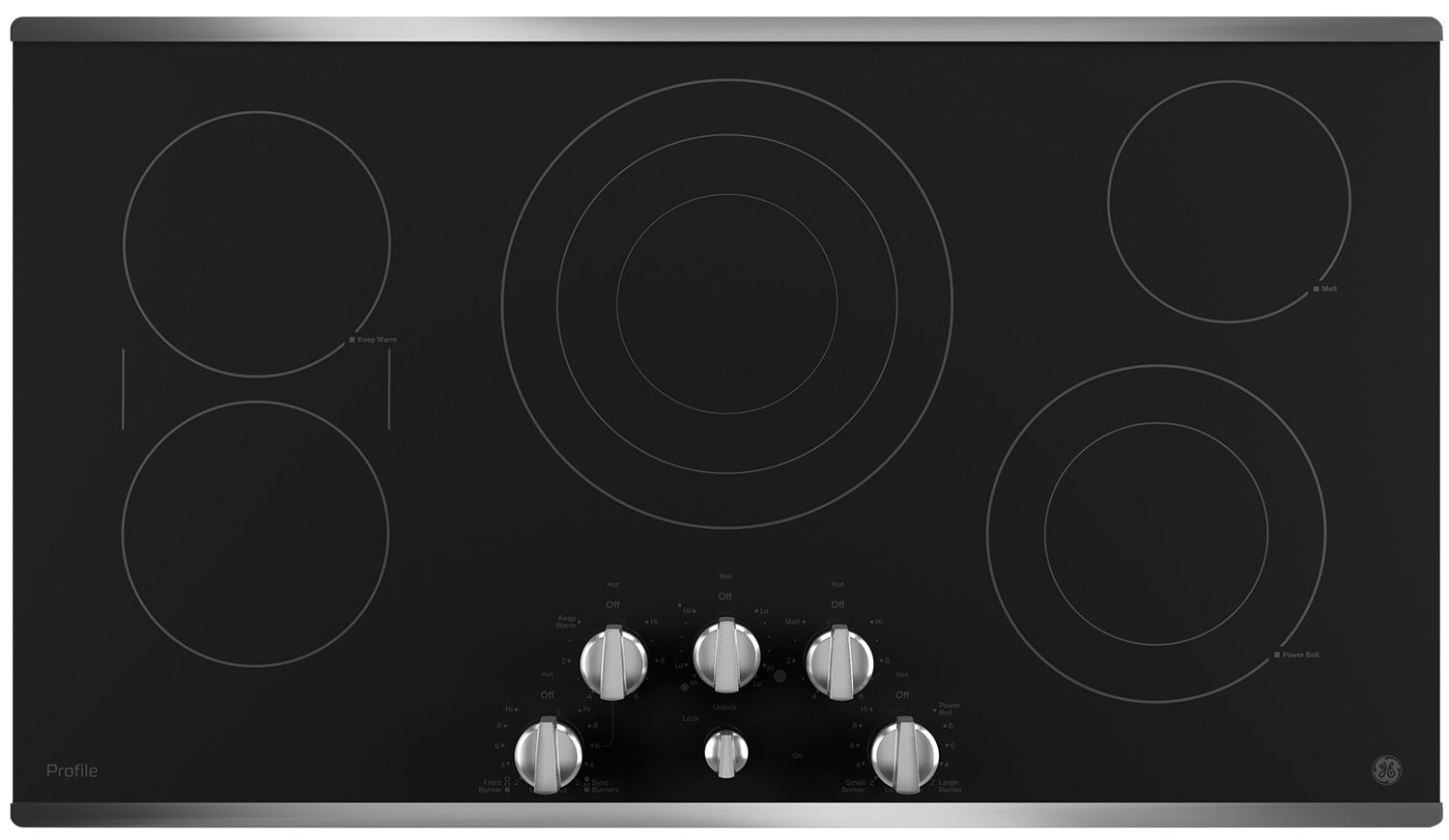 "GE Profile 36"" Electric Cooktop – PP7036SJSS"