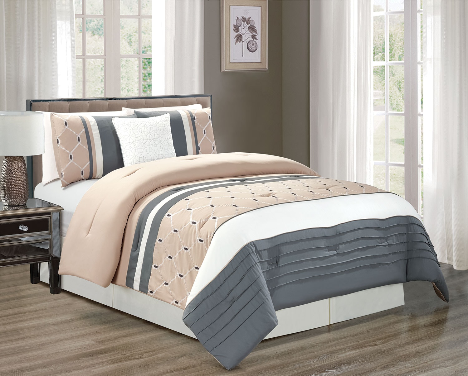Weston 4-Piece King Comforter Set