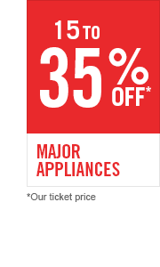 15 to 35% off Major Appliances