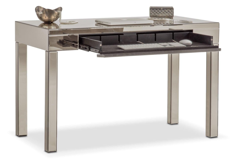 Brio Mirrored Desk Gray American Signature Furniture