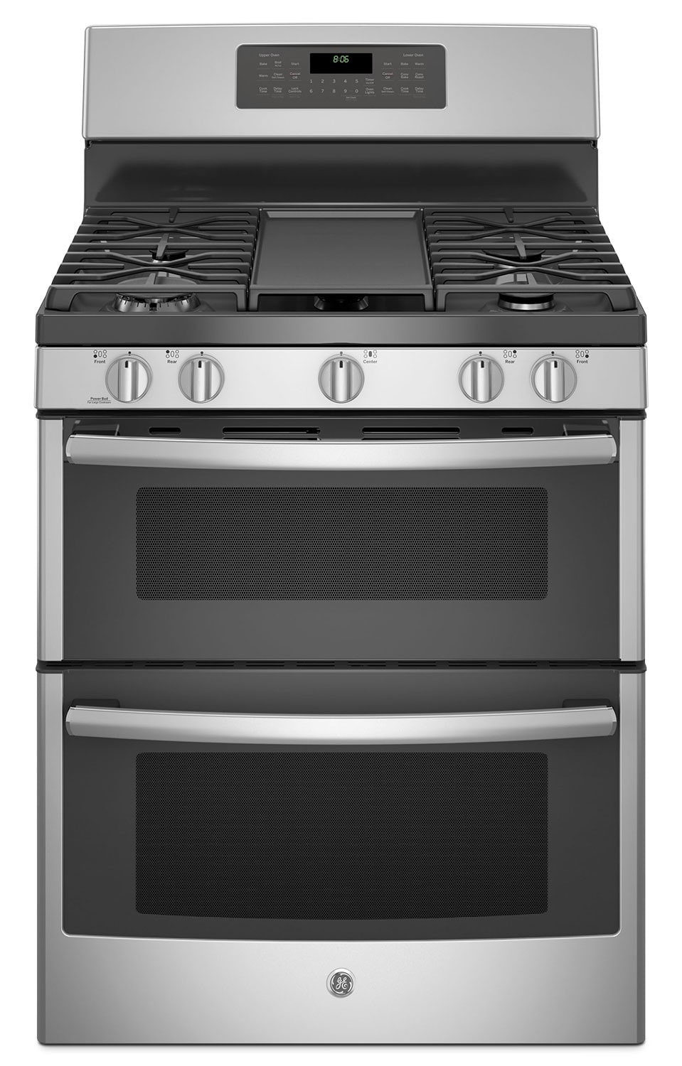 GE 6.8 Cu. Ft. Freestanding Double Oven Gas Range – JCGB860SEJSS