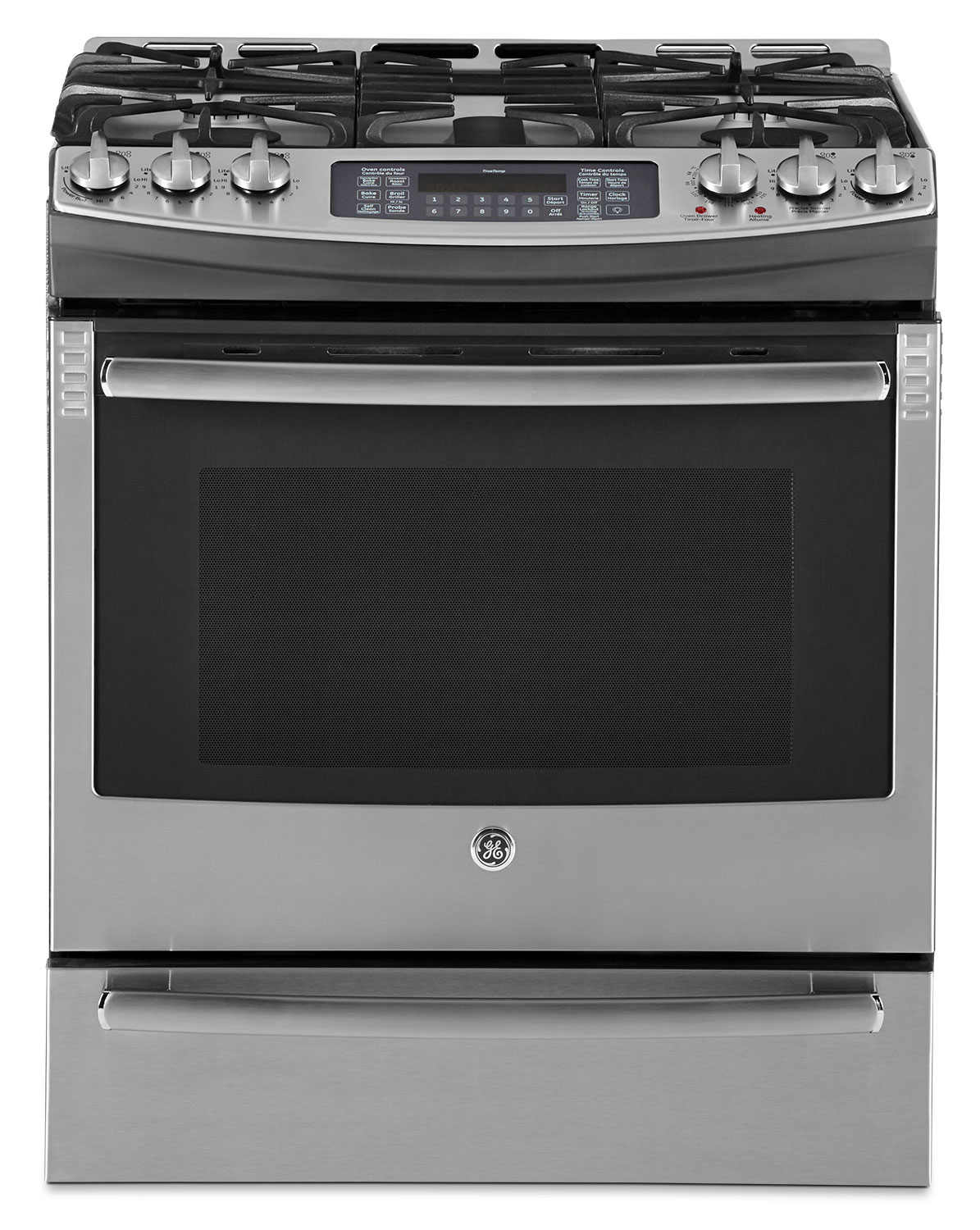 GE 6.4 Cu. Ft. Slide-In Gas Range with Baking Drawer – PCGS910SEFSS