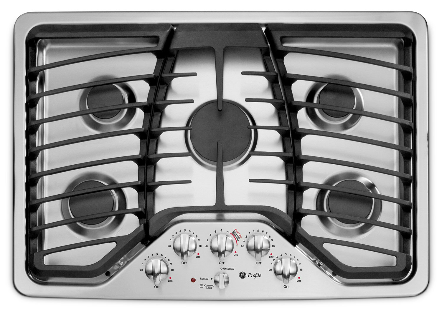 "GE 30"" Deep-Recessed Gas Cooktop – PGP953SETSS"