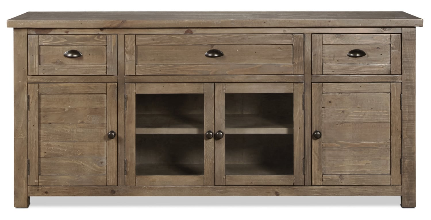 """Tuscan Crossing 70"""" TV Stand - Brown"""