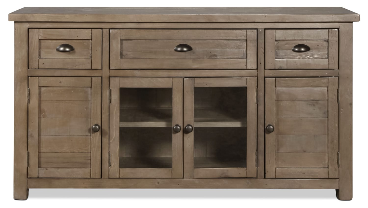 """Tuscan Crossing 60"""" TV Stand - Brown"""