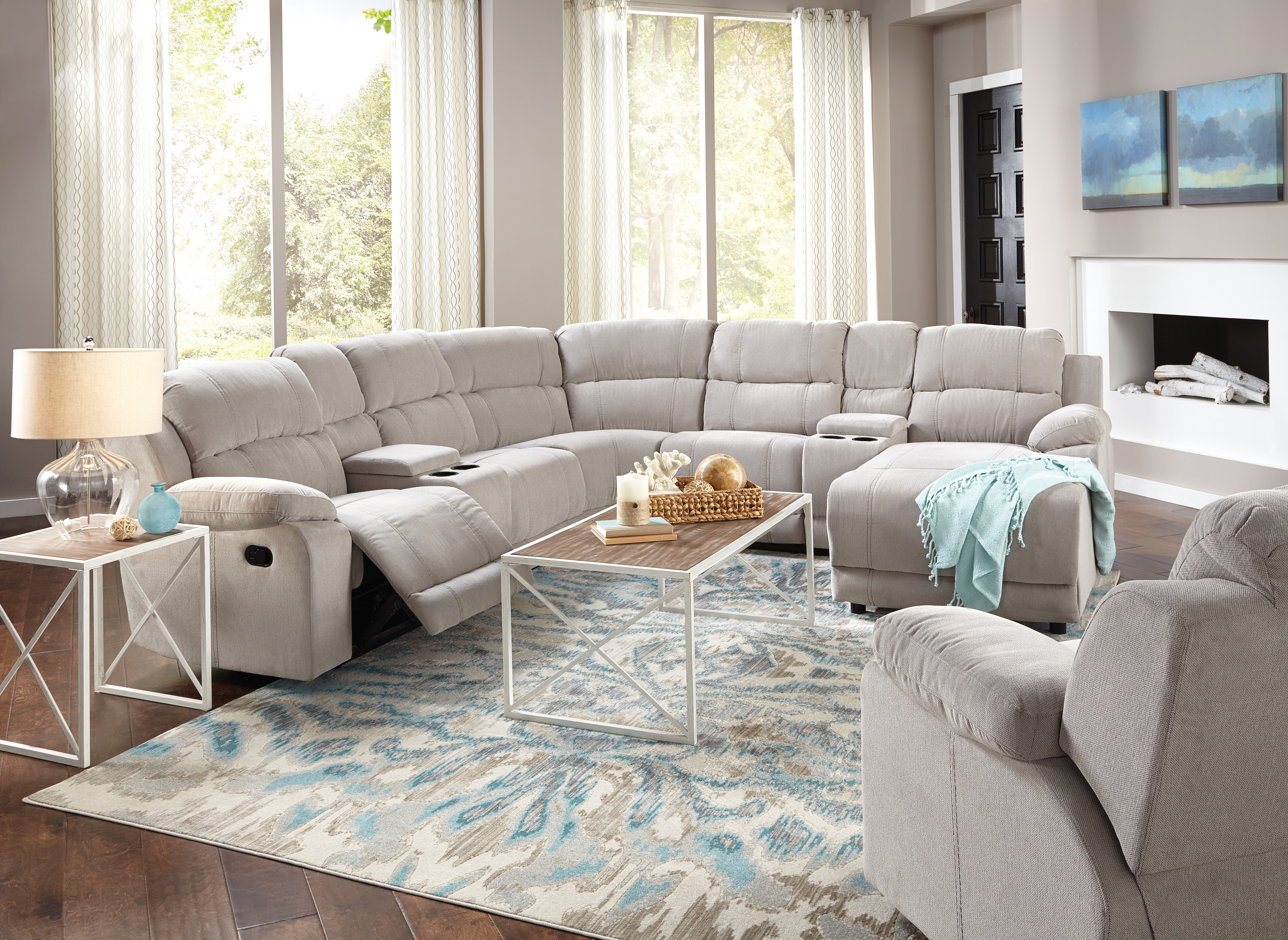 Living Room Furniture - Loretto 7 pc Sectional