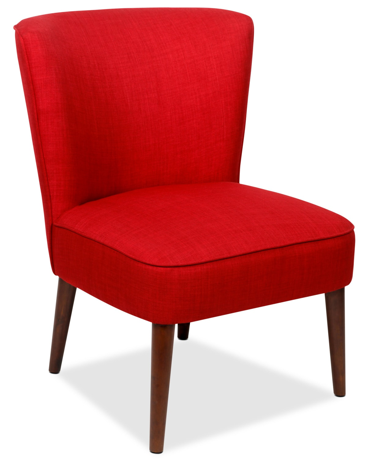 Sophie Linen-Like Fabric Accent Chair – Cherry