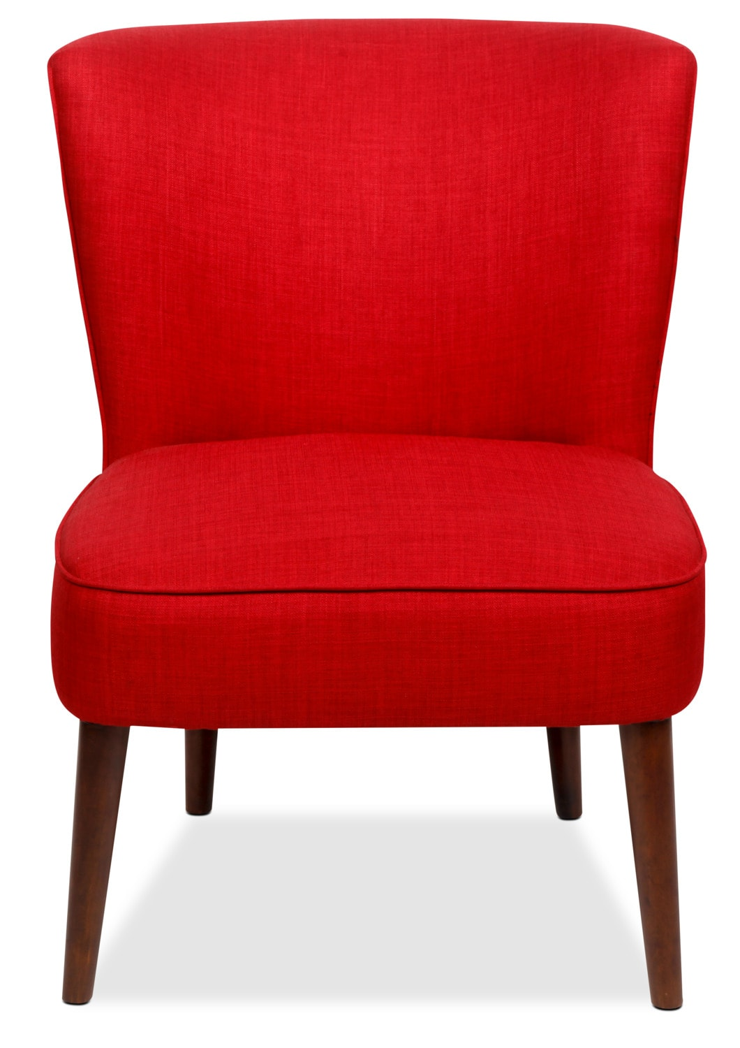 sophie linen like fabric accent chair cherry united