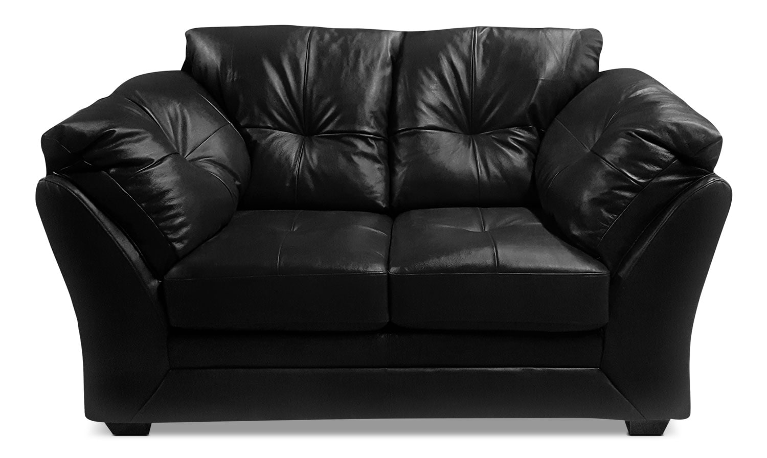 Max Genuine Leather Loveseat – Black