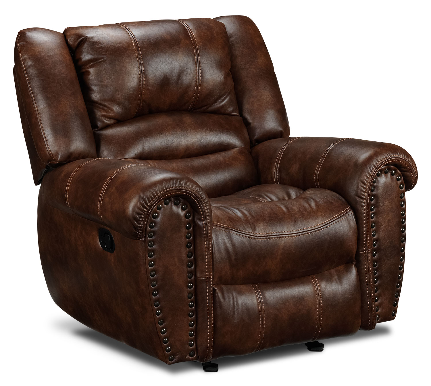 Living Room Furniture - Whitaker Glider Recliner - Brown