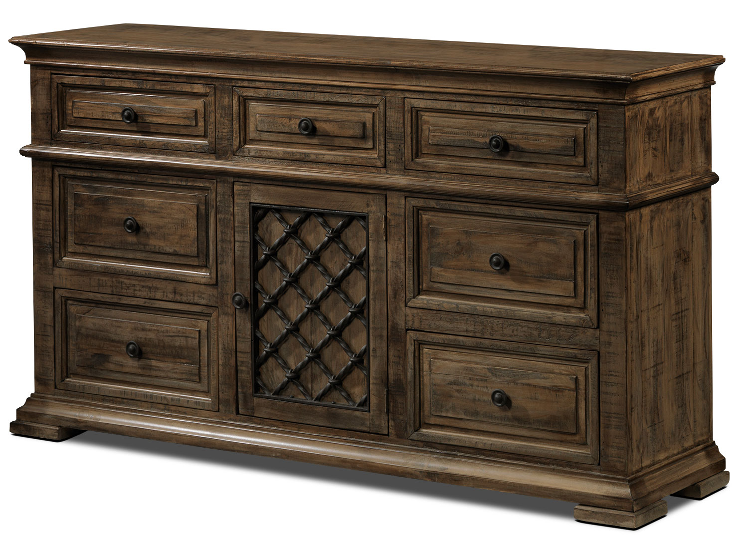 Monterry Dresser - Brown Driftwood
