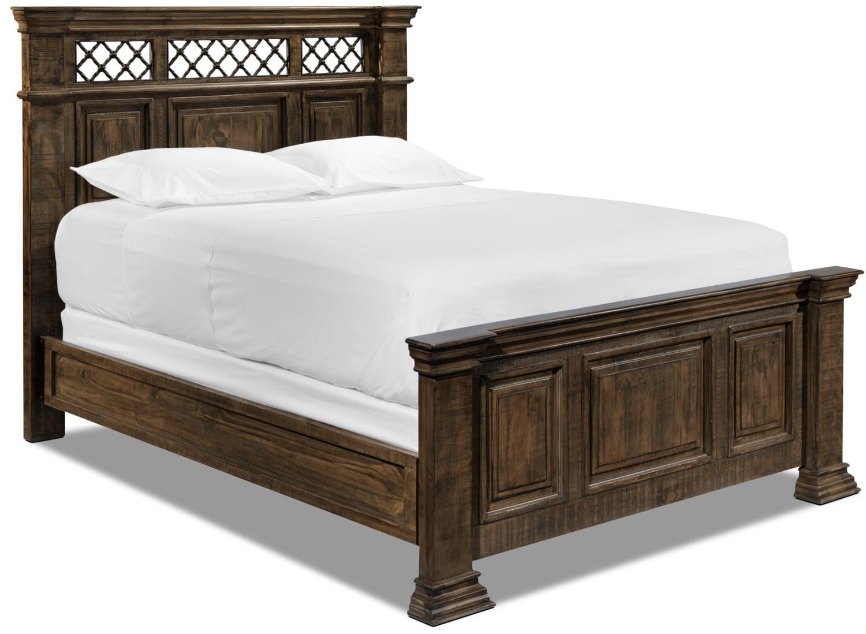 Driftwood Bedroom Furniture Monterry 5 Piece Queen Bedroom Set Brown Driftwood Leons