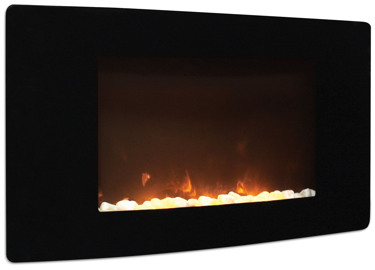 "Barcelona 35"" Curved Wall-Mount Fireplace"
